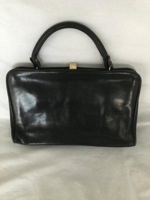 Schwarze Leder-Handtasche Retrolook