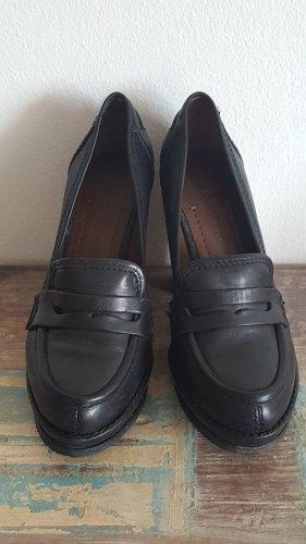 schwarze Leder High Heels - Preis ist VB