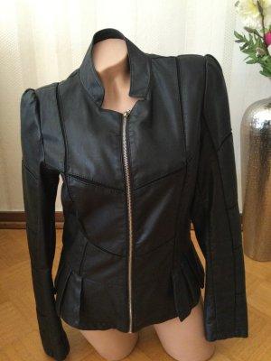 Schwarze Leder Jacke von bludeise