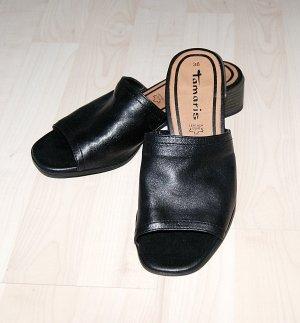 Tamaris Heel Pantolettes black leather