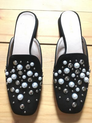 Schwarze Leder-Slipper von Gero