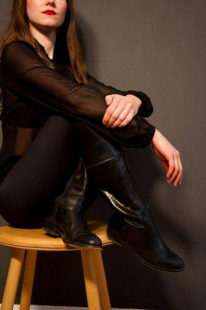 Kookai Riding Boots black-brown leather