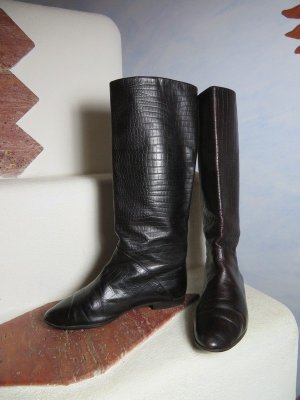 Vintage Botas slouch negro-color bronce