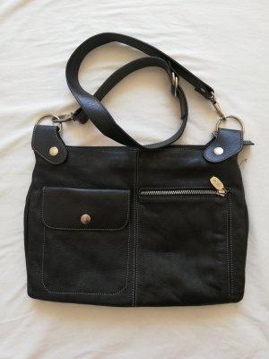 Schwarze Leder-Tasche von PRÜNE
