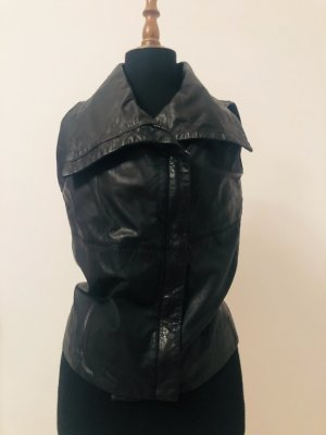 Bomboogie Leather Vest black leather
