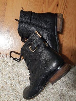 5th Avenue Low boot noir-doré cuir
