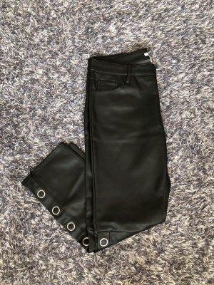 Schwarze Lederhose 44