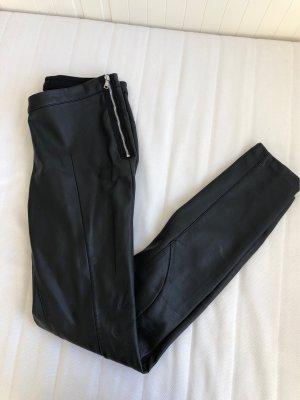 HM Skórzane spodnie czarny
