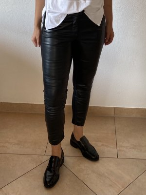 Stefanel Leather Trousers black