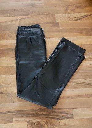 schwarze Lederhose von Together in Gr. 36