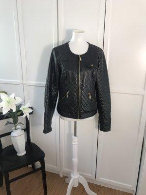 Vero Moda Veste en cuir synthétique noir-doré