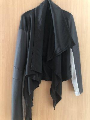 Only Blazer en cuir noir-argenté coton