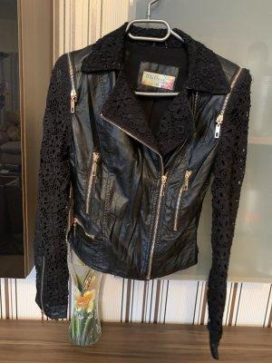 Blu Deise Leather Jacket black