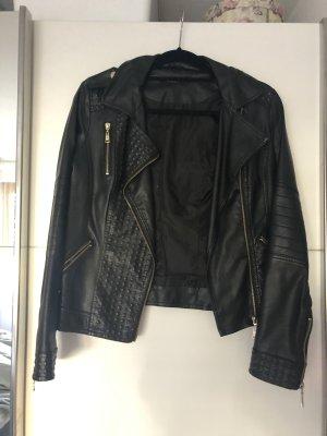 Schwarze Lederjacke der Marke Osley Größe 36
