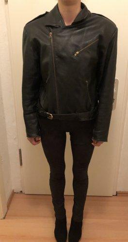 Schwarze Lederjacke echt Vintage