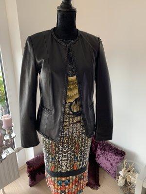 ae elegance Leather Jacket black