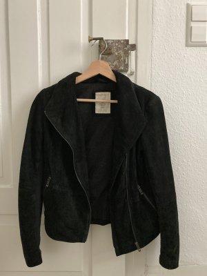 Schwarze Lederjacke von Esprit in Größe 34