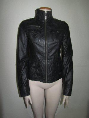 Schwarze Lederjacke von Oge & Co