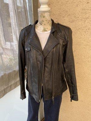 Schwarze Lederjacke von Tchibo