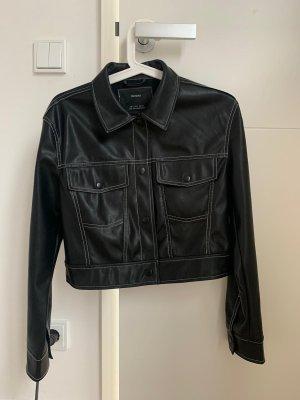 schwarze Lederjacke Zara