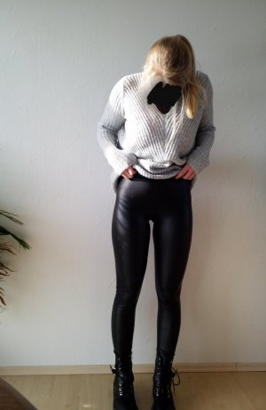 Calzedonia Leather Blouse black