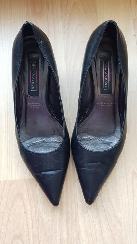 5th Avenue Spitse pumps zwart Leer