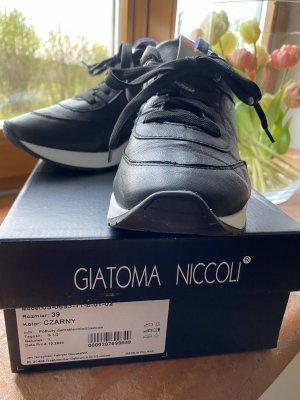 Schwarze Ledersneakers Gr. 39 NIK