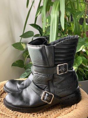 Calvin Klein Jeans Biker Boots black leather