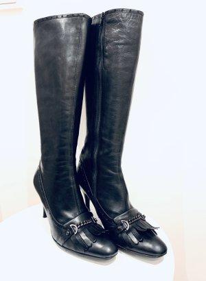 Gastone Lucioli Stivale con tacco alto nero-argento Pelle