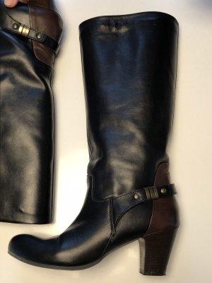 schwarze Lederstiefel von Lilimill
