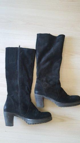 -8- Venice Platform Boots black leather