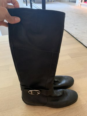 Tod's Jackboots black-silver-colored