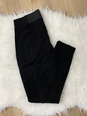 Schwarze Leggings 36 breiter Bund