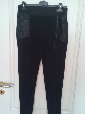 H&M Stretch Trousers black cotton