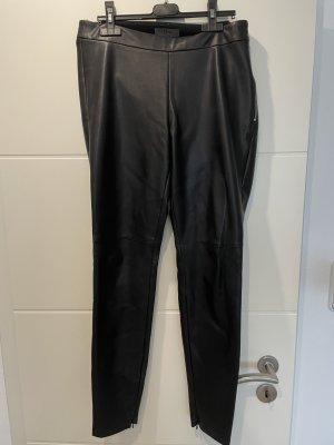 Schwarze Leggins im Leder-Look von s. Oliver Premium in Größe 38