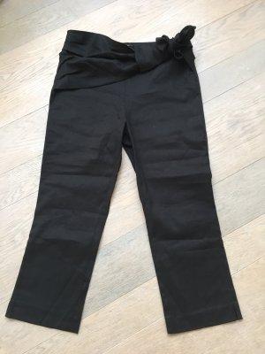 Zara Pantalon capri noir lin