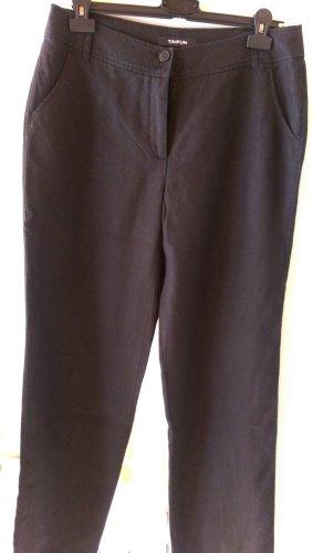 Taifun Pantalone di lino nero Lino
