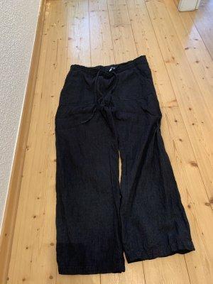 Schwarze Leinenhose / Sommerhose