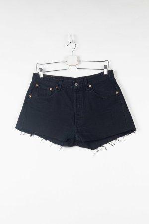 Schwarze Levi's 501 Jeansshorts W33