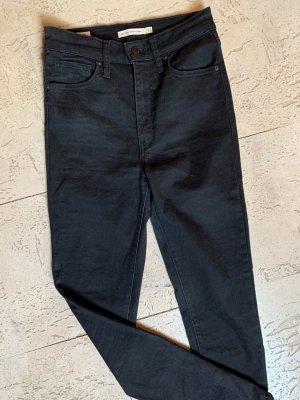 Levi's Hoge taille jeans zwart Katoen