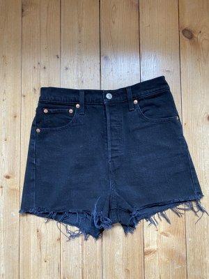 Schwarze Levi's Jeans Short in Gr. 26