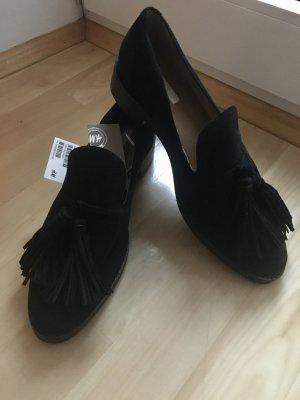Schwarze Loafer aus  mit Quaste