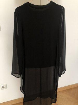 schwarze Longbluse Zara