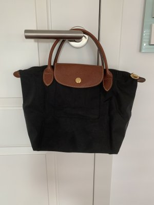 schwarze Longchamp Tasche in klein