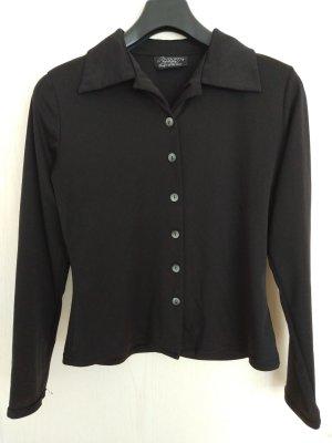 Schwarze Longsleeve-Bluse