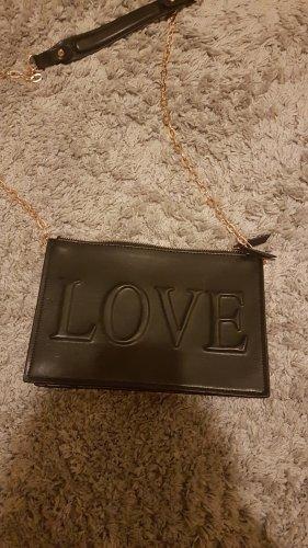 schwarze Love Tasche