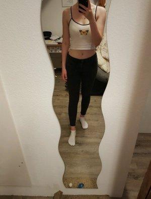 schwarze Low Jeans