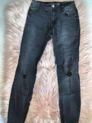 Schwarze Low Waist jeanshose