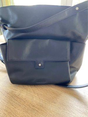 schwarze marco polo ledertasche