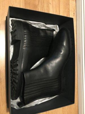 Massimo Dutti Chelsea laarzen zwart Leer